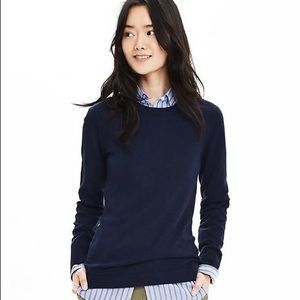 Navy Blue 100% Extra Fine Merino Wool Sweater
